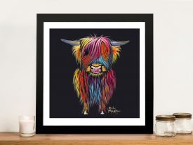 Braveheart The Nosy Cow Shirley MacArthur Framed Art