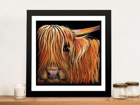 BuTTeRNuT Hairy Highland Framed Wall Art