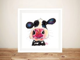 Bubbles Cheeky Cow Shirley MacArthur Artwork