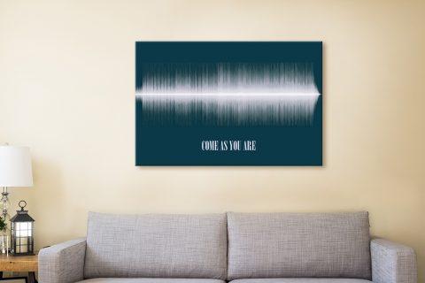 Come As You Are Soundwave Canvas Prints Australia