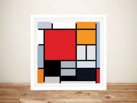 Piet Mondrian Composition Framed Wall Art