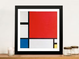 Piet Mondrian - Red Blue and Yellow Artwork