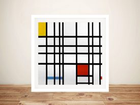 Red & Yellow Piet Mondrian Composition Canvas ArtRed & Yellow Piet Mondrian Composition Canvas Art