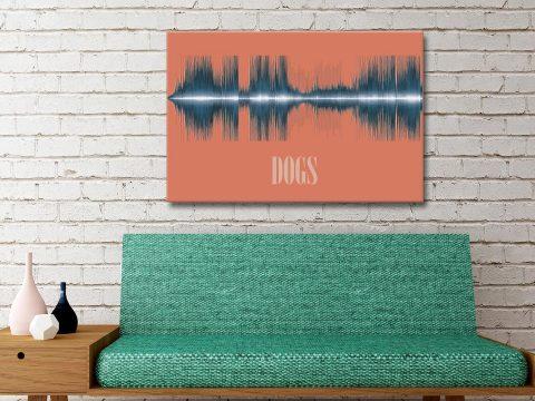 Dogs Soundwave Canvas Prints