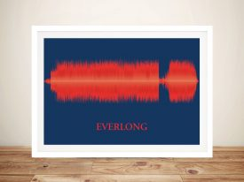 Everlong Foo Fighters Soundwave Framed Art