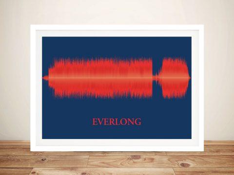 Everlong Foo Fighters Soundwave Framed Art