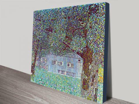 Farmhouse in Upper Austria by Klimt Classic Art Canvas Prints