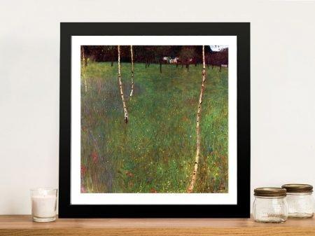 Farmhouse With Birch Klimt Classic Artwork Prints