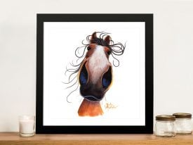 Flash Nosey Mare Canvas Art