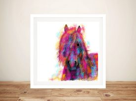 Friesian Wild Colourful Horse Artwork
