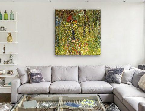 Buy Garden with Crucifix Klimt Canvas Print AU