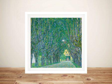 Gustav Klimt Avenue In The Park Artwork