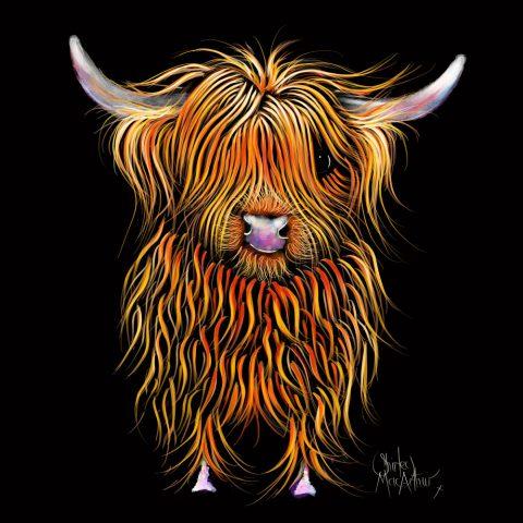 Humphrey Highland Cow Stretched Canvas Wall Art Australia