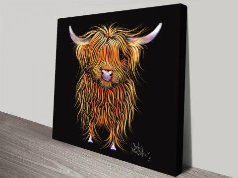 Humphrey Highland Cow Canvas Art Prints Online