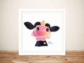 Jammie Jessie Sweet Cow Art Prints