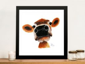 Jersey Joy Delightful Cow Art Prints