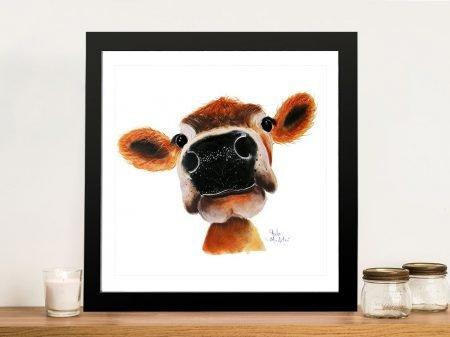 Jersey Joy Delightful Cow Art Prints