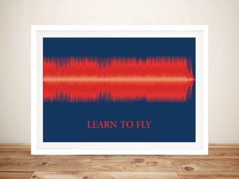 Custom Soundwave Art Framed Wall Art Gift