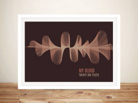 Personalised 3D Waves Soundwave Wall Art