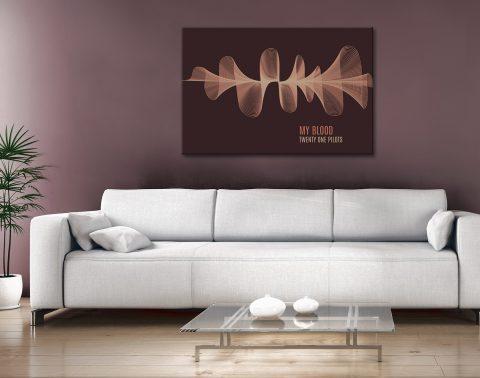 My Blood Soundwave Art Gift Ideas Australia