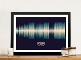 Natural Soundwave Wall Art
