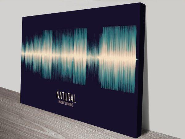 Natural Soundwave Canvas Wall Prints AU