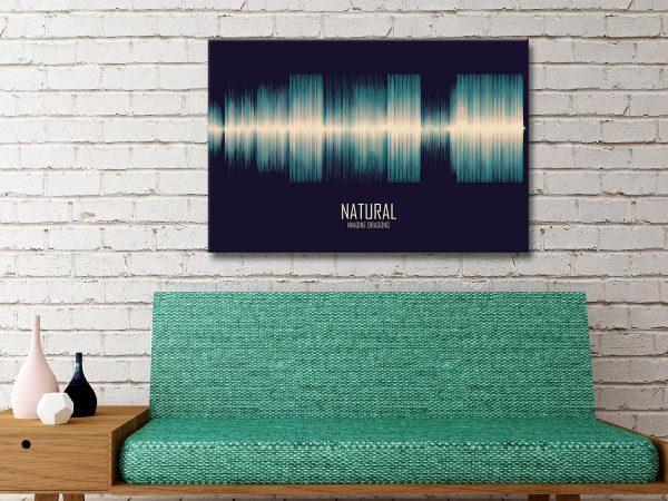 Natural Soundwave Art Gift Ideas AU