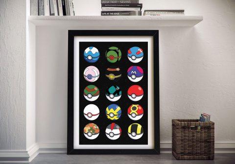Pokemon Pokeballs Poster Great Gifts Online