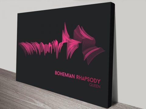 Queen Bohemian Rhapsody Soundwave Canvas Print