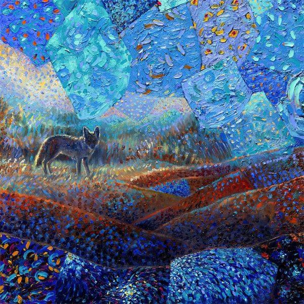 T Pequeño Coyote Iris Scott Canvas Wall Art Prints Gift Ideas