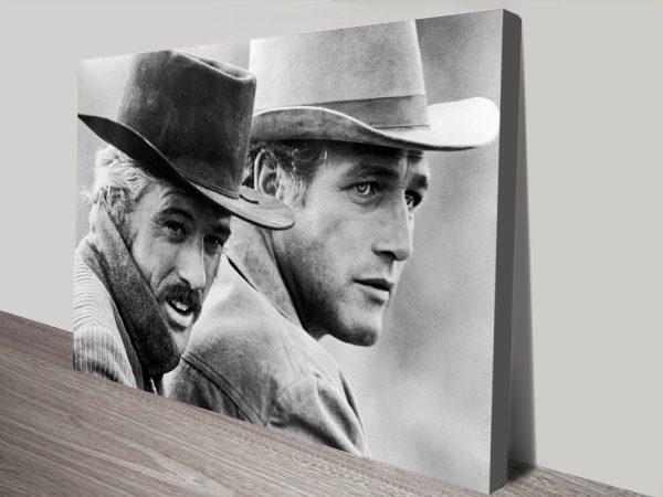 Butch Cassidy & Robert Redford Movie Still Black & White Framed Wall Art