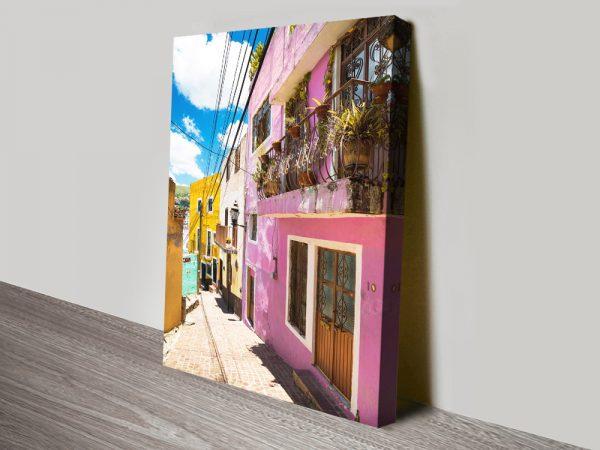 Buy Colourful Street To Guanajuato Artwork AU