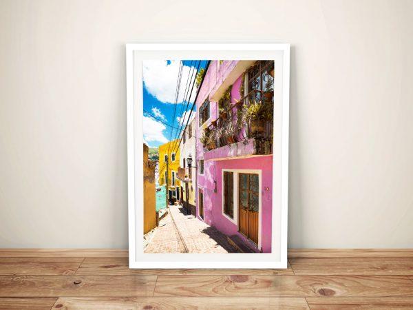 Colourful Street To Guanajuato Wall Art