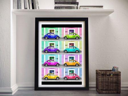 Buy Beetle Cars Framed Wall Art