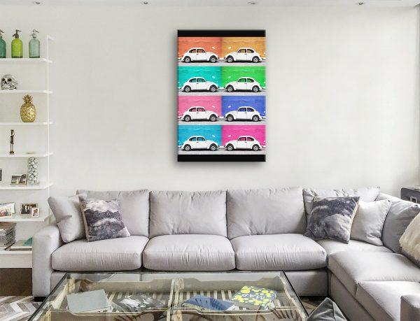 VW Beetle Cars Viva Mexico Framed Art AU