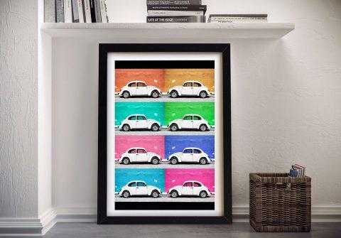 Buy VW Beetle Cars Framed Art Online