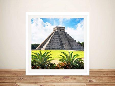 Canvas Art Featuring Pyramid Chichen Itza