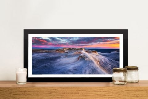 Waves Coastal Framed Artwork
