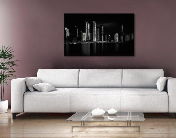 Brisbane City Of Light Cityscape Canvas Art AU