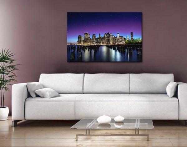 New York Skyline Canvas Print Gift Ideas Sydney AU