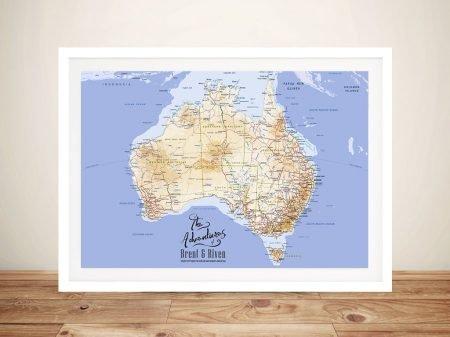 Personalised Australia Rectangle Pin Map