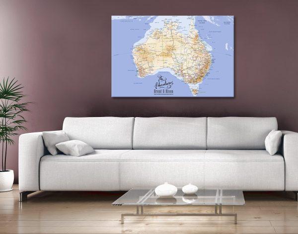 Customisable Australia Push Corkboard Canvas Print