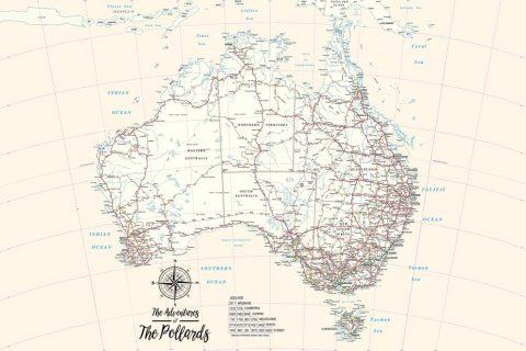 Personalised Australia Pushpin Map Canvas