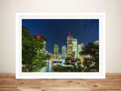 Brisbane At Night Framed Art Online