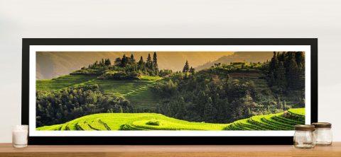 Rice Terraces at Sunset to Longsheng Framed Art