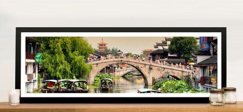Shanghai Water Town Panoramic Wall Art