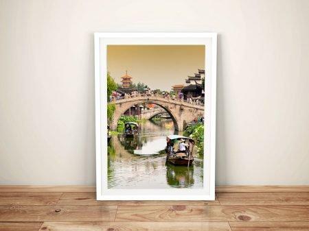 Shanghai Water Town to Qibao Framed Art