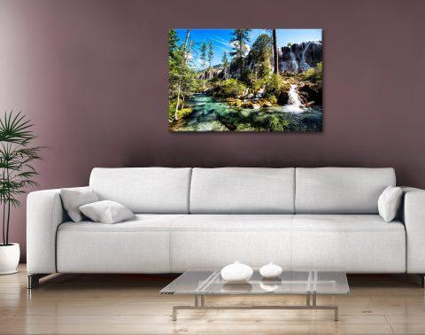 Buy Waterfalls in the Jiuzhaigou Canvas Art