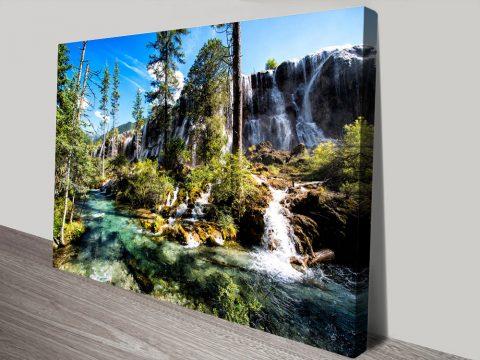 Buy Waterfalls in the Jiuzhaigou Wall Art AU