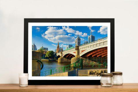 Princes Bridge Framed Canvas Print